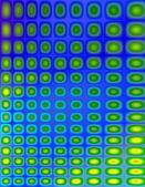 Funky Green Yellow and Blue Pattern — Stock Photo