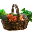Basket of Market Vegetables — Stock Photo #2268550