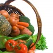 Basket of Market Vegetables - Stock Photo