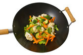 Fresh vegetables in wok — Stock Photo