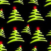 Christmas Trees Seamless Background — Stock Photo