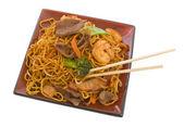 Stir Fry Noodles — Stock Photo