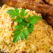 Fried Rice and Chicken Sticks — Stock Photo #2290018