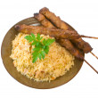 Fried Rice and Chicken Sticks — Stock Photo #2290059