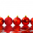 Red Christmas Baubles — Stock Photo #2290491