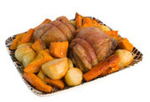 Roast Lamb Rump and vegetables — Stock Photo