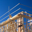 House Frame with Scaffolding - Stock Photo