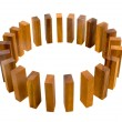 Timber Block Circle Metaphor — Stockfoto