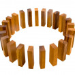 Timber Block Circle Metaphor - Stock Photo