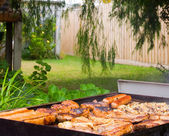 Backyard Barbeque — Stock Photo