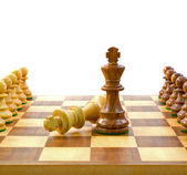 Adversary King Chess Pieces — Stock Photo