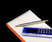Pen en liniaal calculator 4411 pad — Stockfoto