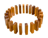 Timber Block Circle Metaphor — Stock Photo