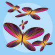 Fluttering Butterflies — Stock Photo