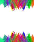 Vibrant scribble borders over white — Stock Photo