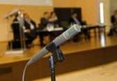 Microphone for the speaker — Stock Photo