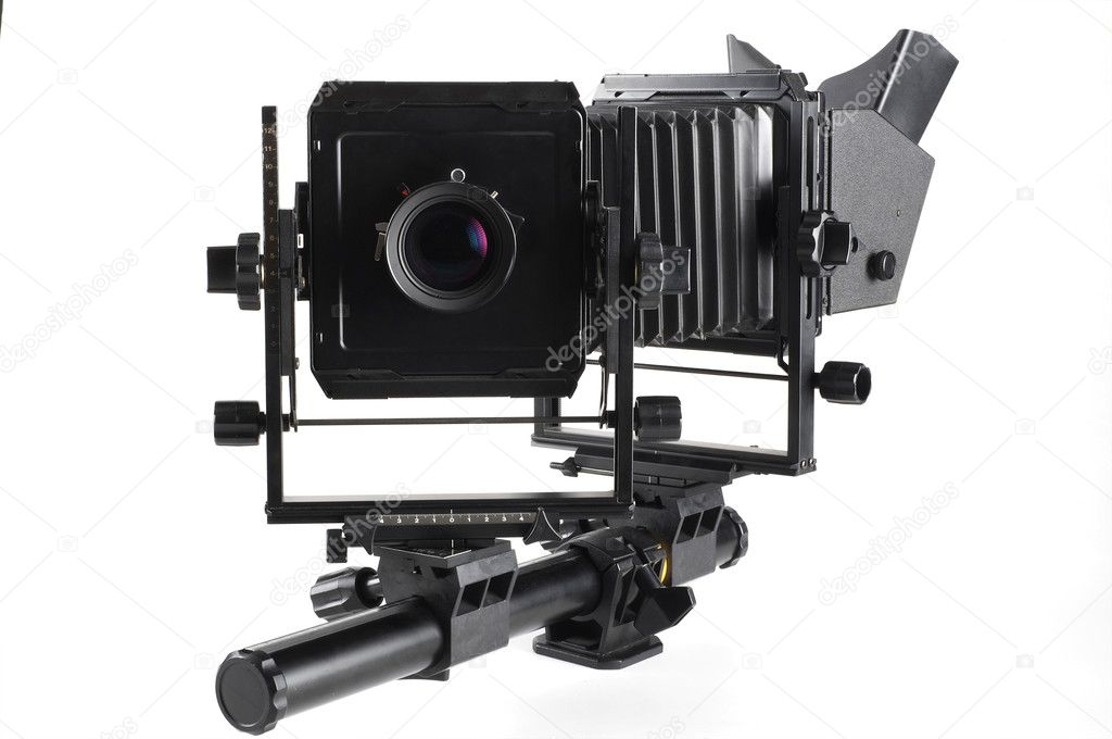 Large format camera front taken from the side. — Stock Photo #2226136