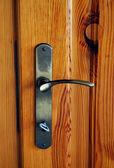 Door and key — Stock Photo