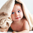 Boy and blanket - Foto Stock