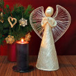 Angel and candle — Stock Photo #2268419