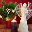 Angel and candle 2 — Stock Photo