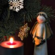 Angel and candle 3 — Stockfoto