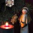 Angel and candle 3 — Stock Photo