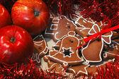 リンゴとジンジャーブレッド 2 — ストック写真