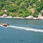 Floating boat — Stock Photo