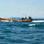 Floating boat 2 — Stock Photo