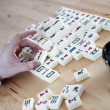 Playing Mahjong - Stock Photo