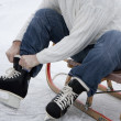 Skaters wearing skates — Stock Photo