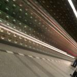 Underground train coming to station — Stock Photo