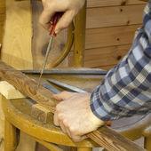Údržbář šroubovákem — Stock fotografie