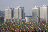 Stands at grand prix Macau — Stock Photo