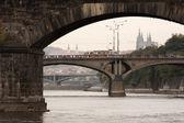 Prague bridges — Stock Photo