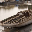 Old boats in a harbour — Stock Photo