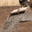 Dipper working with gravel — Stock Photo