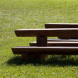 Bench and table — Stock Photo
