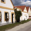 Stock Photo: Vintage houses at Trebon, Czech republic