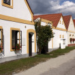 Vintage houses at Trebon, Czech republic - Stock Photo