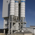 Concrete mixing plant stack — Stock Photo #2235446