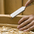 Joinery workshop with wood tools — Stock Photo #2235861