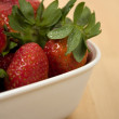 Basin with strawberries — Stock Photo