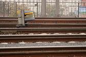 Semaphore and tracks — Stock Photo