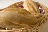 Rolls in bread basket — Stock Photo