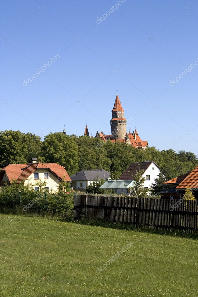 Bouzov castle, Czech republic - gothic medieval tower — Stock Photo #2236103