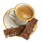 Espresso and chocolate — Stock Photo