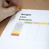 Weight loss schedule — Stock Photo