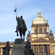 Saint Wenceslas statue — Stock Photo